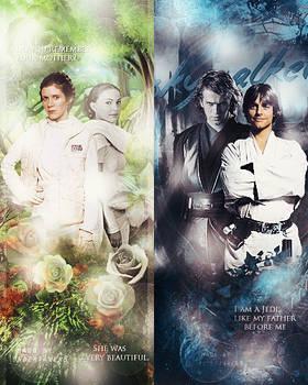 Leia/Padme Luke/Anakin [Star Wars]