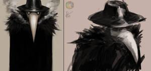 Plague Doctor sketches
