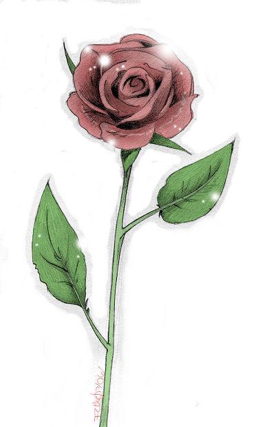 Long stem rose by manden on deviantart for Long stem rose tattoo