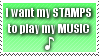 Musical Stamps by FoxThunderbolt