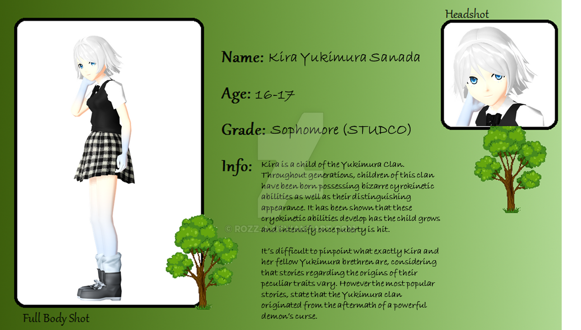 MMD-Legend-Academy: Student Application - Kira by Rozz-a