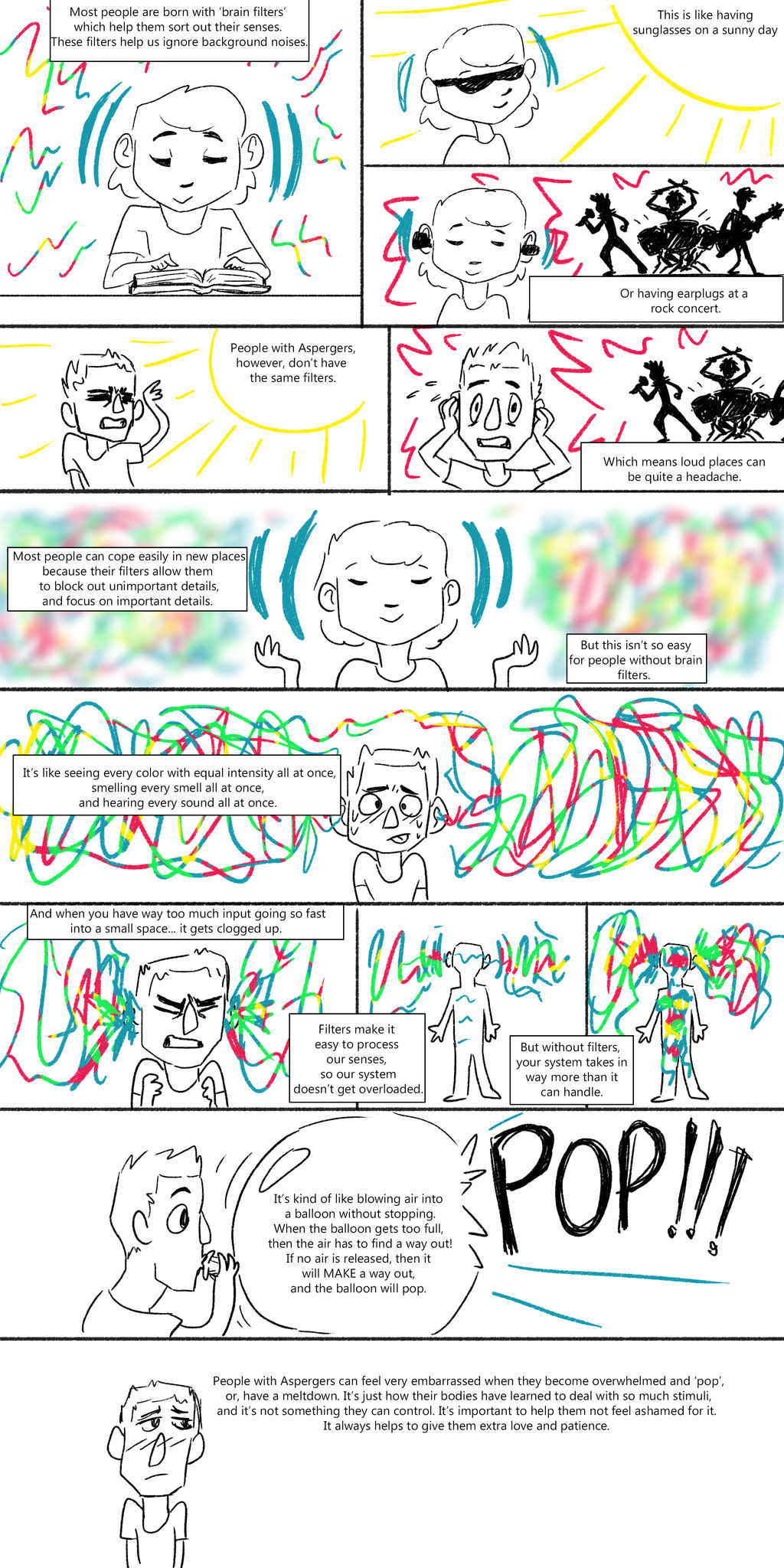 A Guide to Understanding Sensory Overload by mspandalolo on