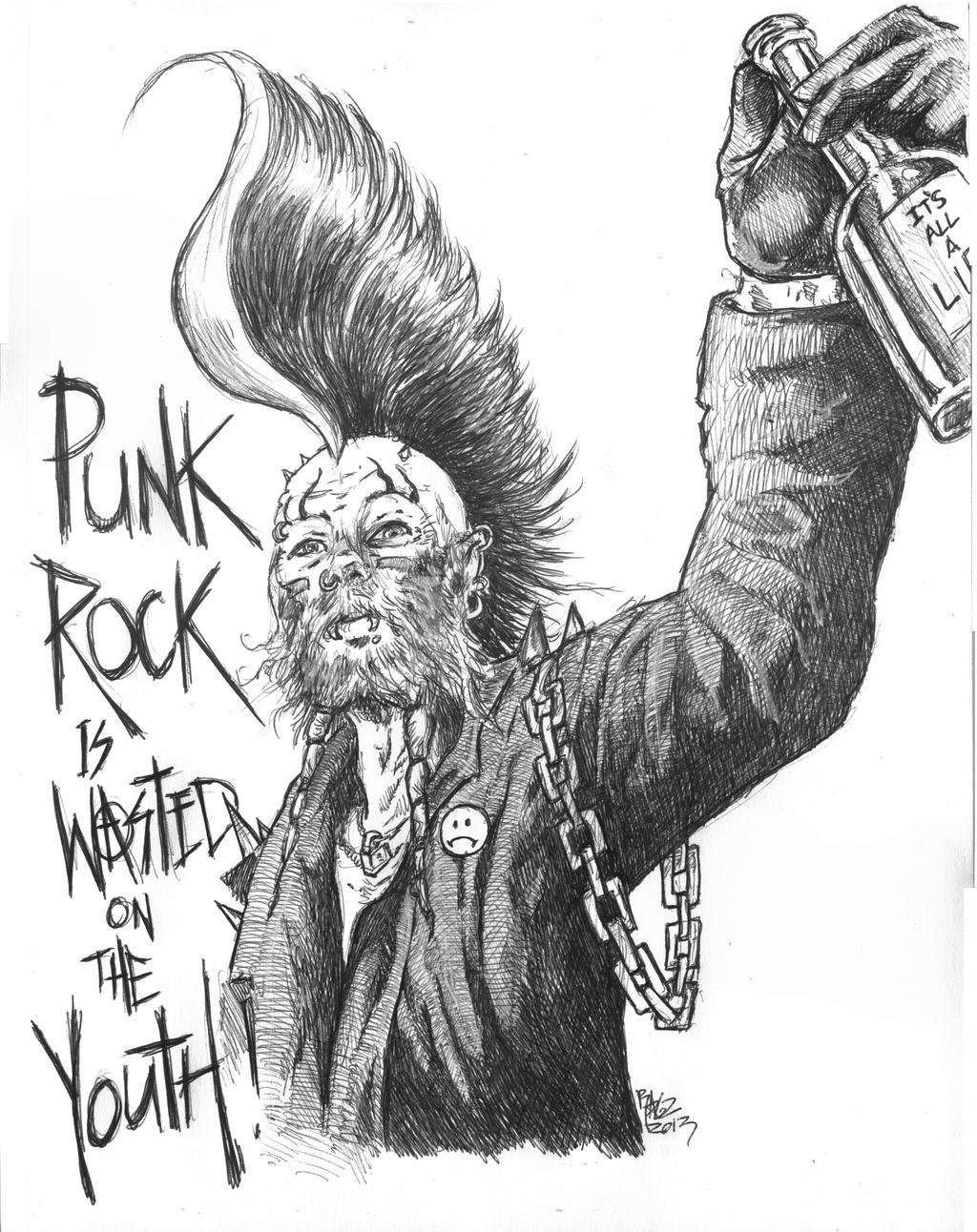 rock drawings tumblr Punk