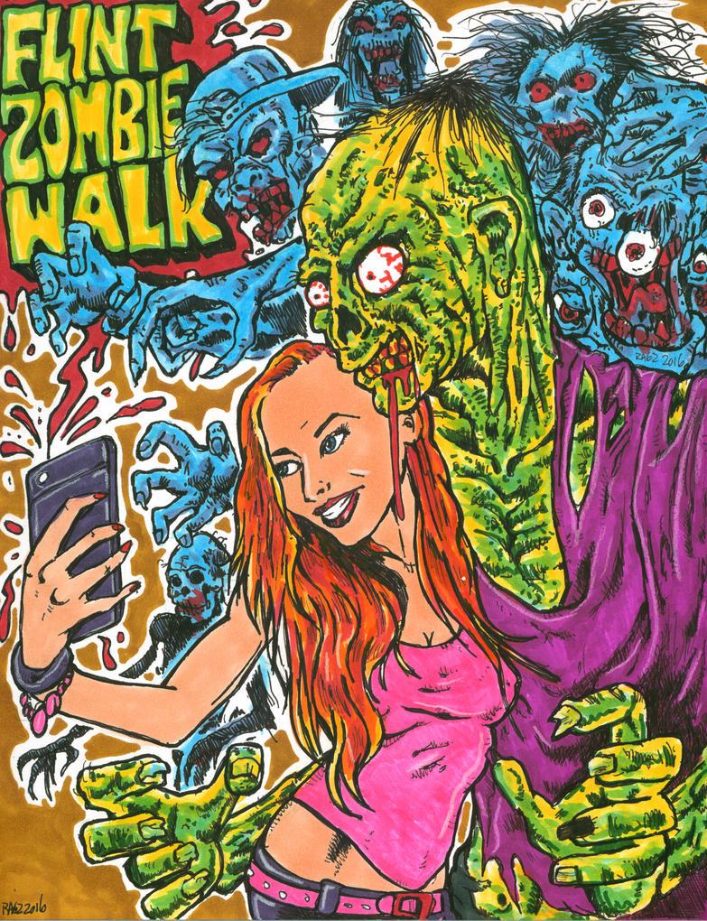 Flint Zombie Walk 2016 by ragzdandelion