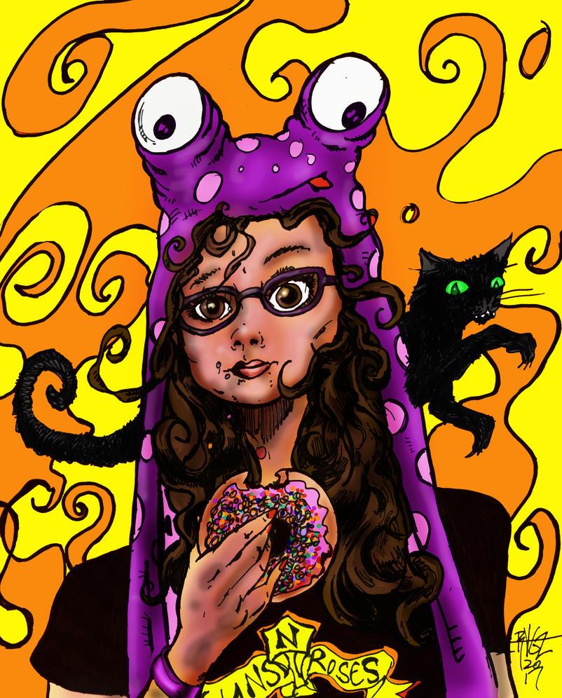 Stacey's Pink Donut Break by ragzdandelion