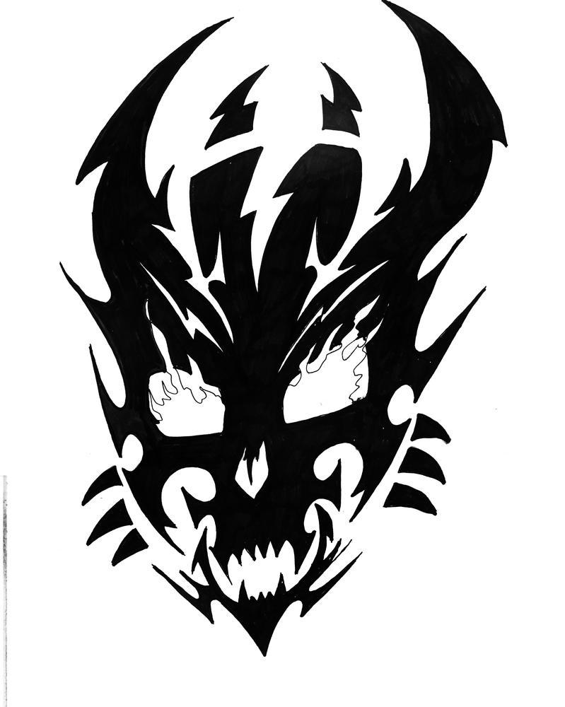 Skull Tattoo Commission 01 by ragzdandelion