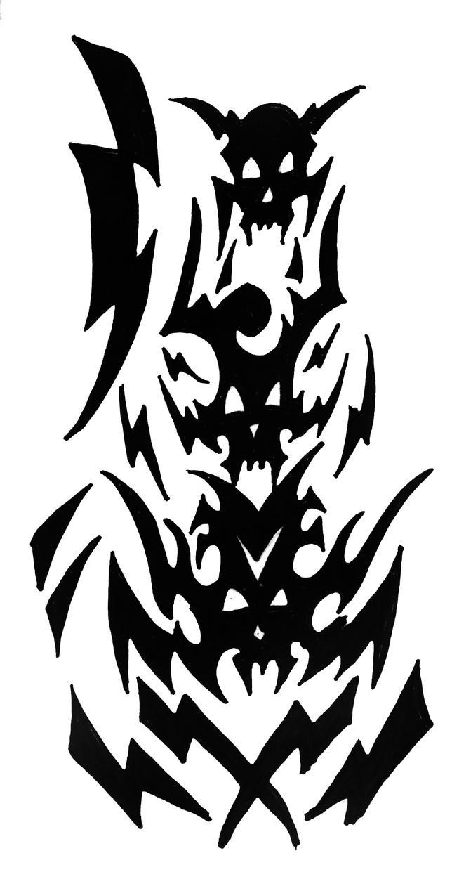 Skull Tattoo Commission 02 by ragzdandelion