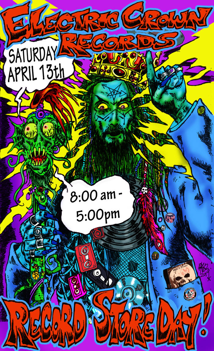 Electric Crown Records RecordStoreDay Poster