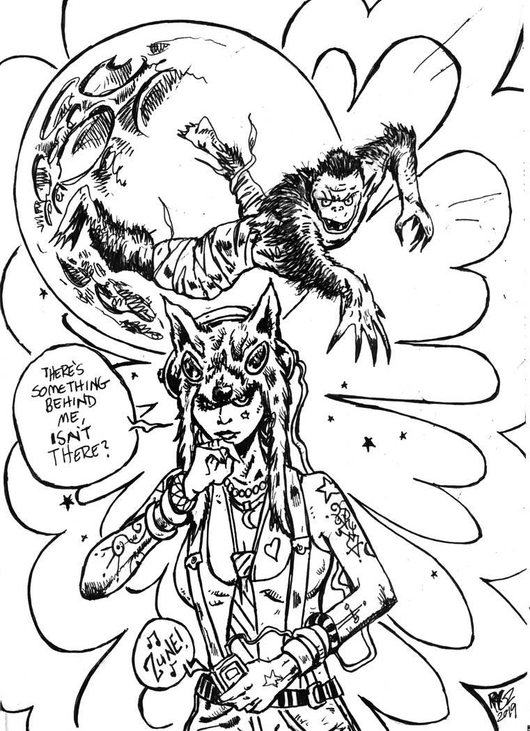 Wolf Mummy Vs. Zune Girl by ragzdandelion