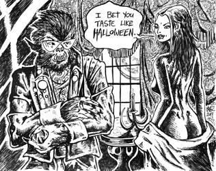 I Bet You Taste Like Halloween by ragzdandelion