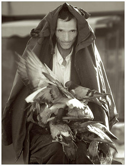 The man with the birds