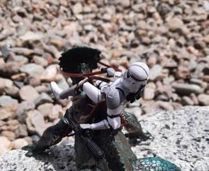 Gray 41st Trooper Riding