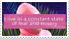 [STAMP] Fear - pink guy aesthetic stamp by Makohime