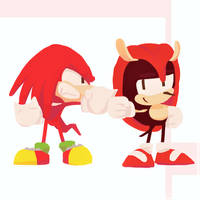 Knuckles and Mighty - Sonic Mania Plus 2/10 by Lallelol