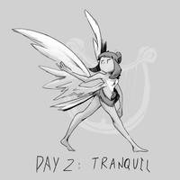 Inktober Day 2: Tranquil by Lallelol