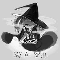 Inktober Day 4: Spell by Lallelol