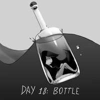 Inktober Day 18: Bottle by Lallelol