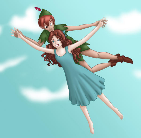 how to draw wendy and peter pan