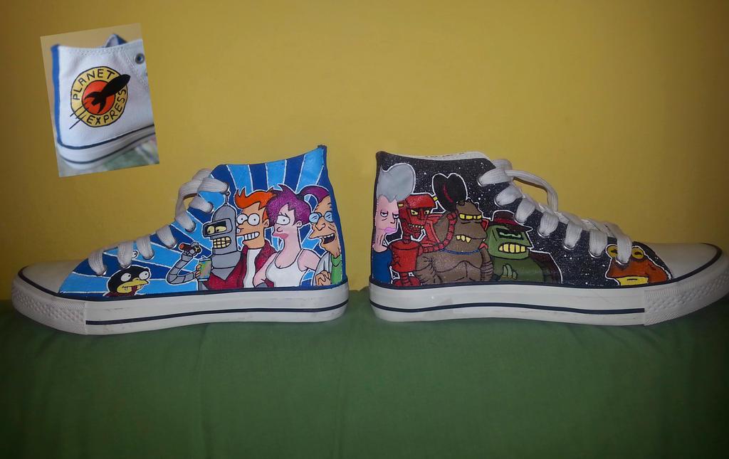 Futurama Shoes by Ragamuffyn