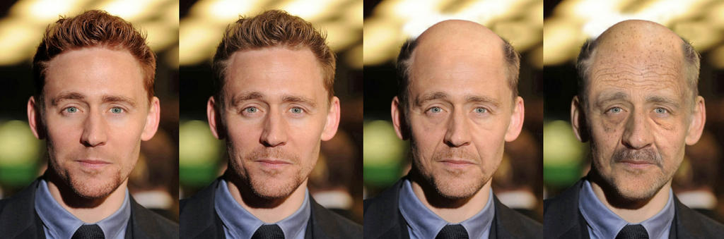 Tom Hiddleston young to old by Ragamuffyn