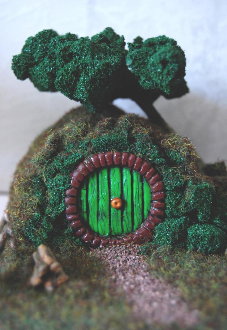 Miniature Hobbit House by Ragamuffyn