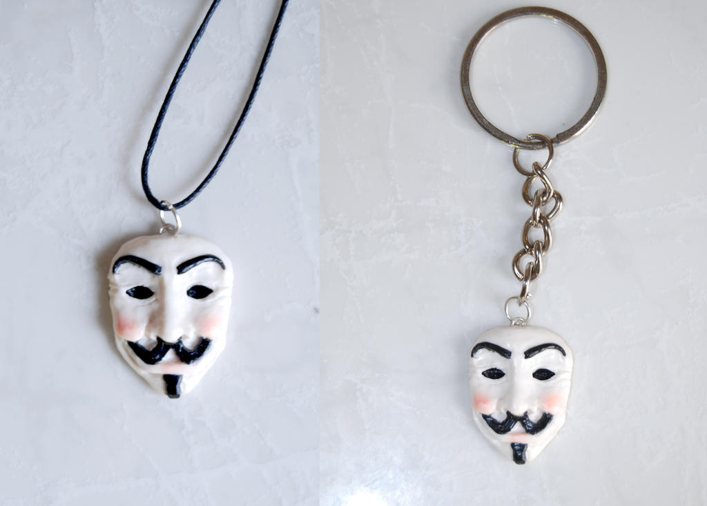V for Vendetta Pendant or Keychain by Ragamuffyn