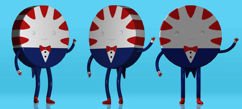 3D Peppermint Butler - Adventure Time by Ragamuffyn
