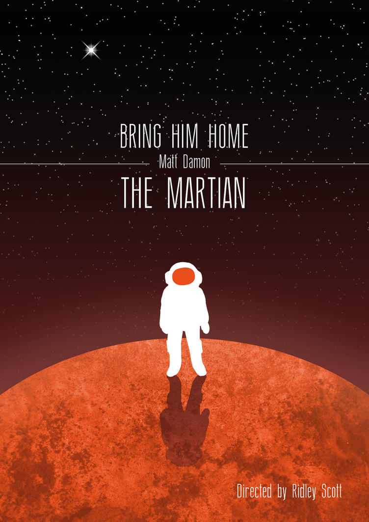 The Martian Poster by Ragamuffyn