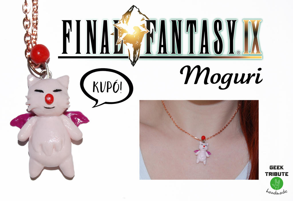 Polymer clay pendant - Moguri from Final Fantasy by Ragamuffyn