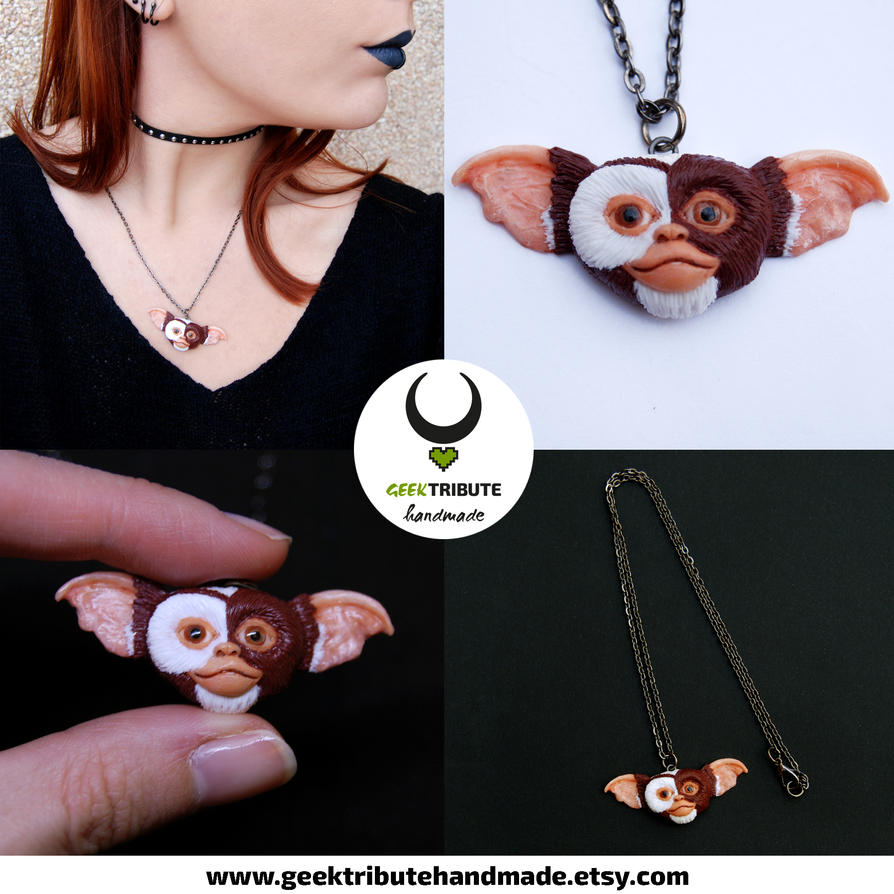 Gizmo necklace - Gremlins by Ragamuffyn