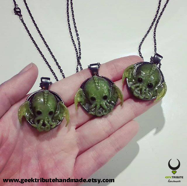 My little babies - Cthulhu necklace by Ragamuffyn
