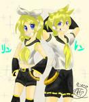 Happy birthday Kagamine rin and len~!