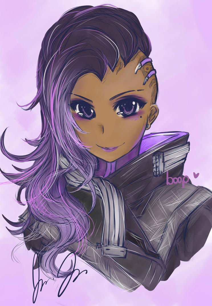 Overwatch: Sombra by KuroKnight1634