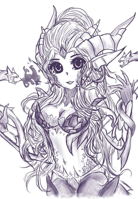 Dragon Sorceress Zyra by KuroKnight1634