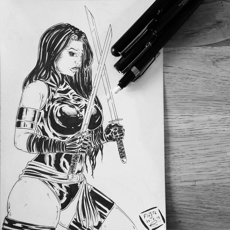 Psylocke  by Flo-Jitz