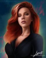 Scarlett Johansson as Black Widow by Lynariti