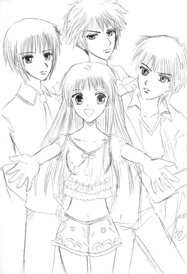fruits basket coloring pages manga - photo#26