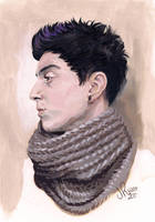 Self Study in Acrylic by likeOMFGitsJONNY
