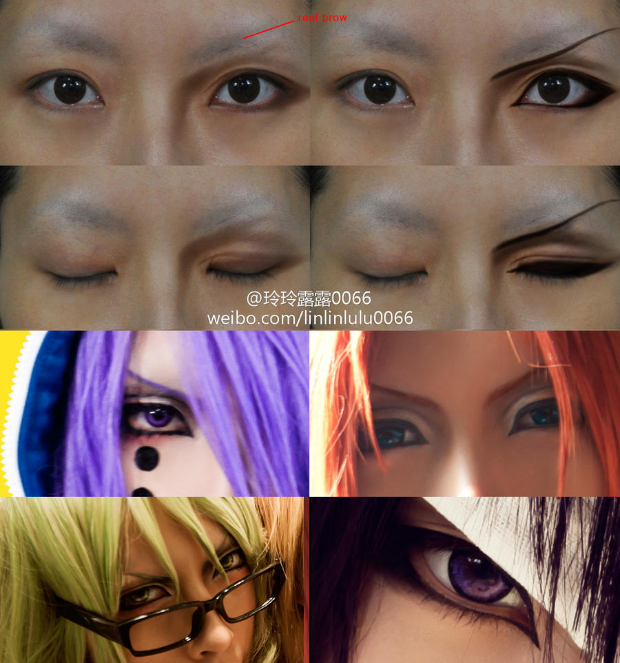 Anime girl make up tutorial by sujun boy character s eyes makeup 0066