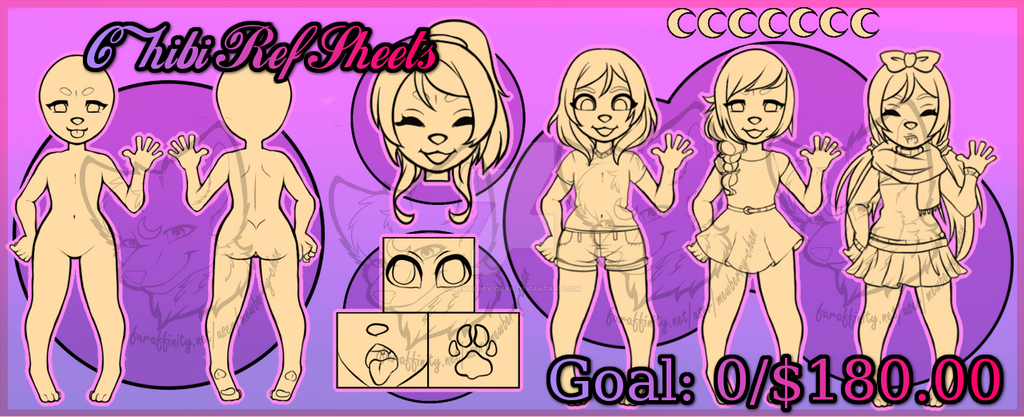 Chibi Ref Sheets $8 (OPEN) by Mewberry-Chan