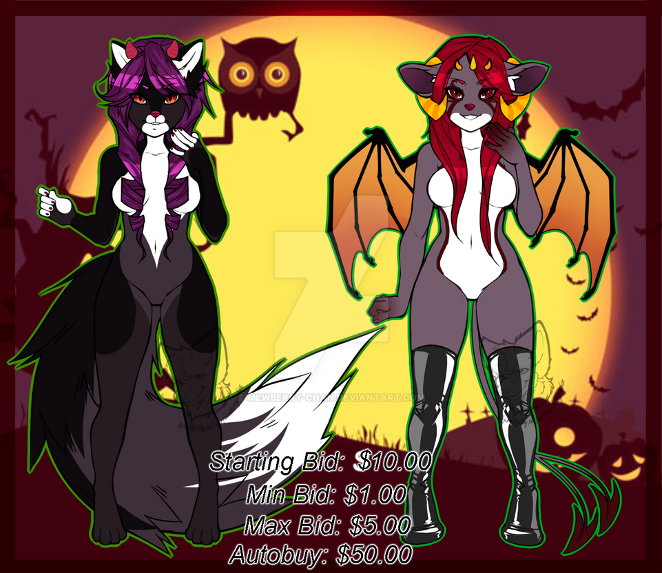 Halloween Beauties Auction (OPEN) by Mewberry-Chan