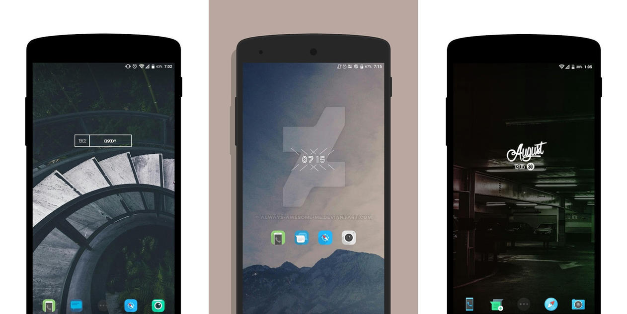 MIN Minimal Zooper widget by always-awesome-me