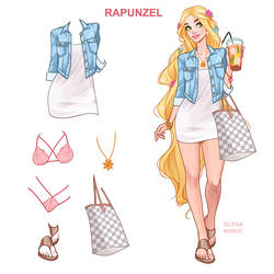 Rapunzel modern outfit