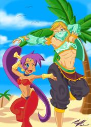 Shantae and Gerudo Link by TinaMarieMarreroArts