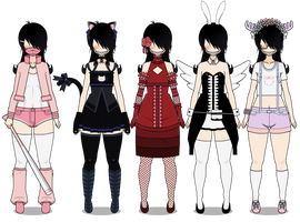 More outfits Exports- by KisekaeKeith
