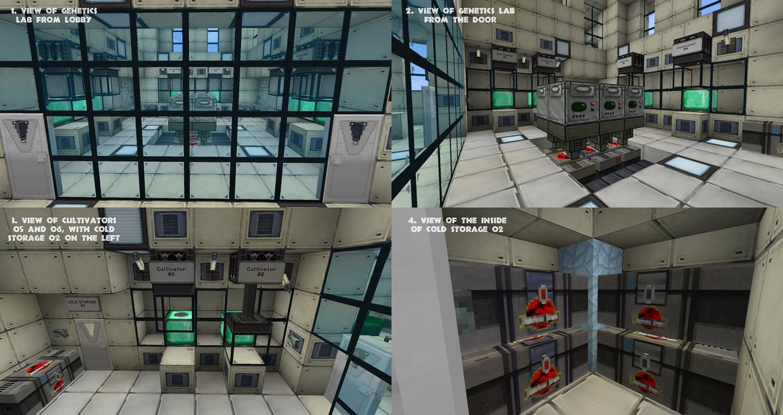 Minecraft Lab Interior Architecture Modern Idea
