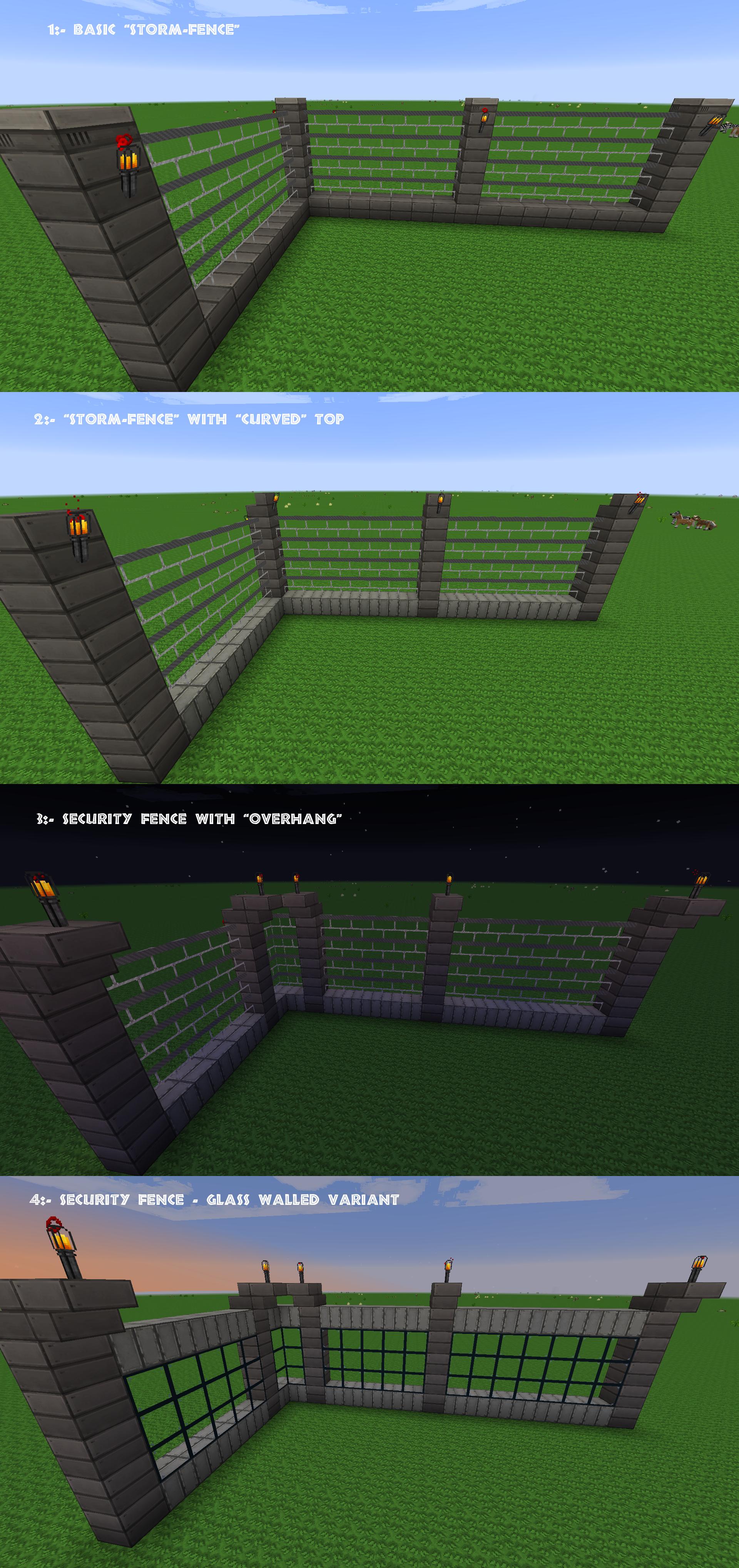 Craft The World Iron Fence