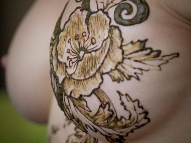 Henna Tattoo Designs Under Breast: Henna Breast By Darkwing101 On DeviantArt