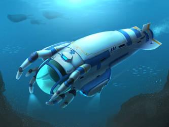 Subnautica - Cuttlefish submarine