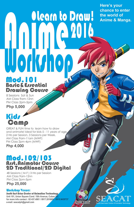 Poster design workshop -  Final Anime Workshop Poster Design Work By Brianb3x